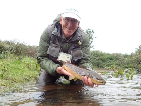 A PAA member returns a beautiful River Eamont trout